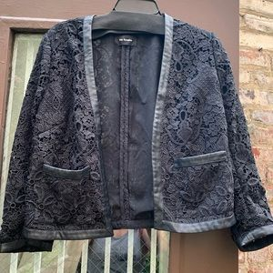 Kooples cropped lace blazer